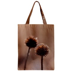Withered Globe Thistle In Autumn Macro Zipper Classic Tote Bag by wsfcow