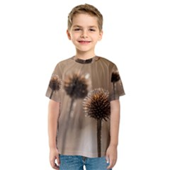 Withered Globe Thistle In Autumn Macro Kids  Sport Mesh Tee by wsfcow