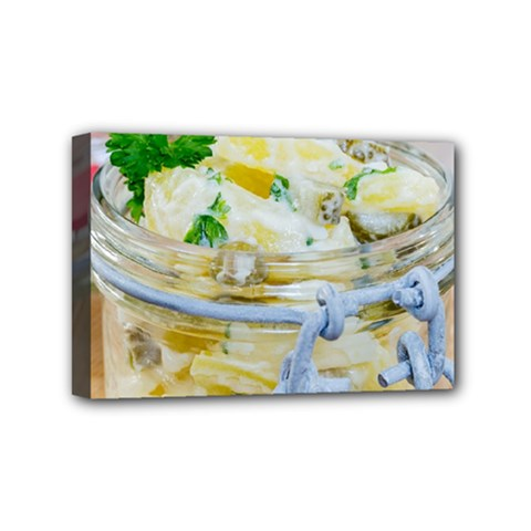 Potato Salad In A Jar On Wooden Mini Canvas 6  X 4  by wsfcow