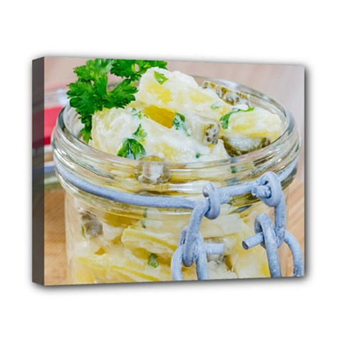 Potato Salad In A Jar On Wooden Canvas 10  X 8  by wsfcow