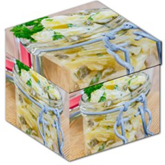Potato Salad In A Jar On Wooden Storage Stool 12   by wsfcow