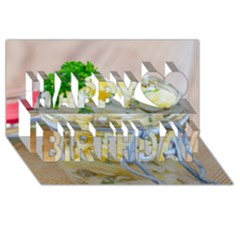 Potato Salad In A Jar On Wooden Happy Birthday 3d Greeting Card (8x4) by wsfcow