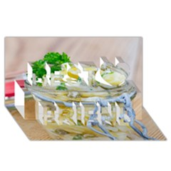 Potato Salad In A Jar On Wooden Best Friends 3d Greeting Card (8x4) by wsfcow