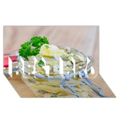 Potato Salad In A Jar On Wooden Best Bro 3d Greeting Card (8x4) by wsfcow
