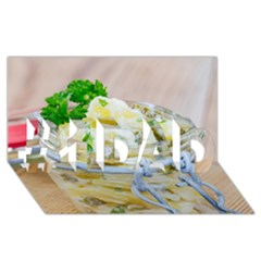 Potato Salad In A Jar On Wooden #1 Dad 3d Greeting Card (8x4) by wsfcow