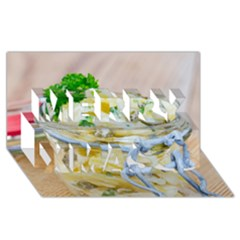 Potato Salad In A Jar On Wooden Merry Xmas 3d Greeting Card (8x4) by wsfcow