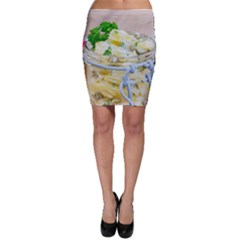 Potato Salad In A Jar On Wooden Bodycon Skirt by wsfcow