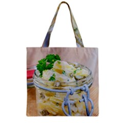 Potato Salad In A Jar On Wooden Grocery Tote Bag by wsfcow