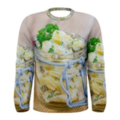 Potato Salad In A Jar On Wooden Men s Long Sleeve Tee by wsfcow