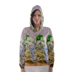 Potato Salad In A Jar On Wooden Hooded Wind Breaker (women) by wsfcow