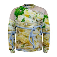 Potato Salad In A Jar On Wooden Men s Sweatshirt by wsfcow