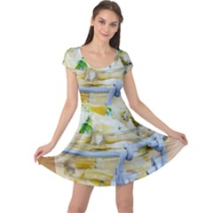 Potato Salad In A Jar On Wooden Cap Sleeve Dresses by wsfcow