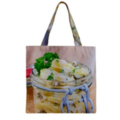 Potato Salad In A Jar On Wooden Zipper Grocery Tote Bag by wsfcow