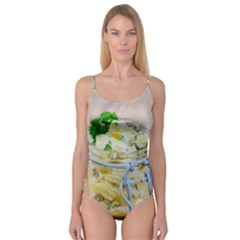 Potato Salad In A Jar On Wooden Camisole Leotard  by wsfcow