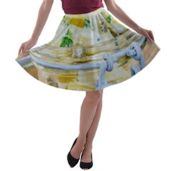 Potato Salad In A Jar On Wooden A Line Skater Skirt by wsfcow