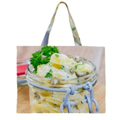 Potato Salad In A Jar On Wooden Zipper Large Tote Bag by wsfcow