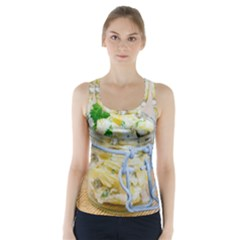 Potato Salad In A Jar On Wooden Racer Back Sports Top by wsfcow