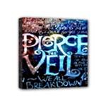 Pierce The Veil Quote Galaxy Nebula Mini Canvas 4  x 4