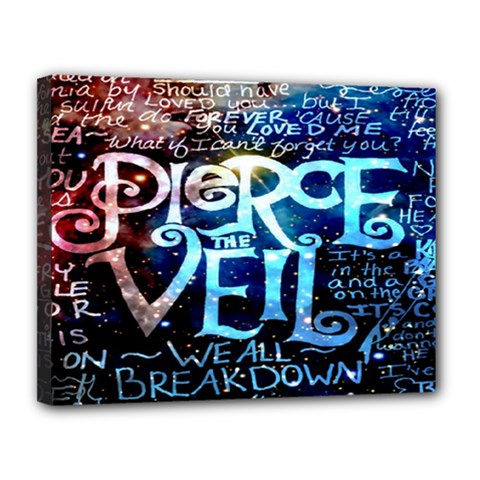 Pierce The Veil Quote Galaxy Nebula Canvas 14  X 11  by Onesevenart