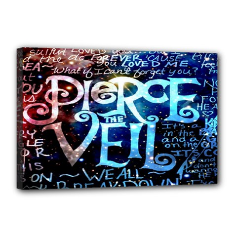 Pierce The Veil Quote Galaxy Nebula Canvas 18  X 12  by Onesevenart
