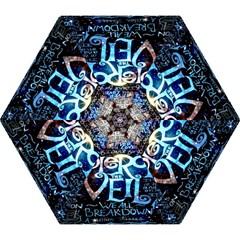 Pierce The Veil Quote Galaxy Nebula Mini Folding Umbrellas by Onesevenart