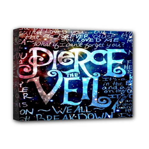 Pierce The Veil Quote Galaxy Nebula Deluxe Canvas 16  X 12   by Onesevenart