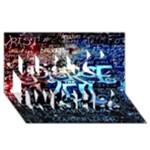 Pierce The Veil Quote Galaxy Nebula Best Wish 3D Greeting Card (8x4)