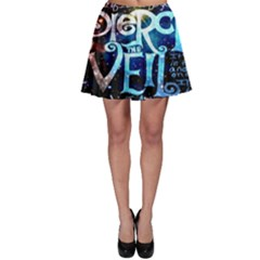 Pierce The Veil Quote Galaxy Nebula Skater Skirt by Onesevenart