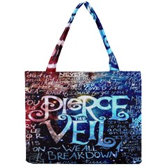 Pierce The Veil Quote Galaxy Nebula Mini Tote Bag by Onesevenart