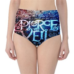 Pierce The Veil Quote Galaxy Nebula High Waist Bikini Bottoms by Onesevenart