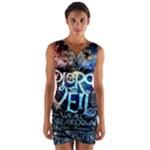 Pierce The Veil Quote Galaxy Nebula Wrap Front Bodycon Dress