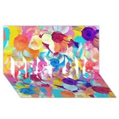 Anemones Best Sis 3d Greeting Card (8x4) by DanaeStudio