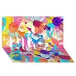 Anemones HUGS 3D Greeting Card (8x4)