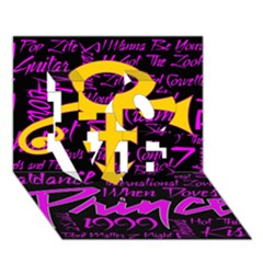 Prince Poster Love 3d Greeting Card (7x5) by Onesevenart