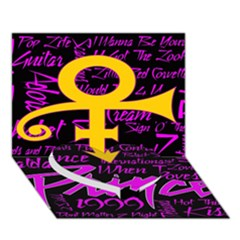 Prince Poster Heart Bottom 3d Greeting Card (7x5) by Onesevenart