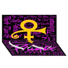 Prince Poster Twin Heart Bottom 3d Greeting Card (8x4) by Onesevenart
