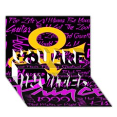 Prince Poster You Are Invited 3d Greeting Card (7x5) by Onesevenart