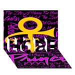 Prince Poster HOPE 3D Greeting Card (7x5)
