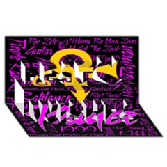 Prince Poster Best Wish 3d Greeting Card (8x4) by Onesevenart
