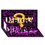 Prince Poster Merry Xmas 3D Greeting Card (8x4)