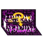 Prince Poster Congrats Graduate 3D Greeting Card (8x4)