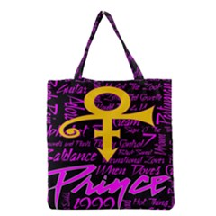 Prince Poster Grocery Tote Bag by Onesevenart