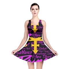 Prince Poster Reversible Skater Dress by Onesevenart