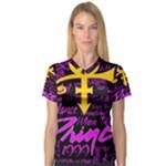 Prince Poster Women s V-Neck Sport Mesh Tee