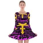 Prince Poster Long Sleeve Skater Dress
