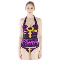 Prince Poster Halter Swimsuit by Onesevenart
