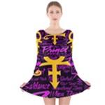 Prince Poster Long Sleeve Velvet Skater Dress