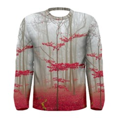 Magic Forest In Red And White Men s Long Sleeve Tee by wsfcow