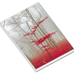 Magic Forest In Red And White Large Memo Pads by wsfcow