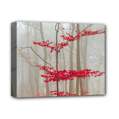 Magic Forest In Red And White Deluxe Canvas 14  X 11  by wsfcow